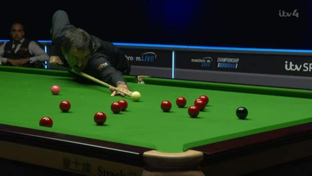 Ronnie O'Sullivan in action during the Championship League