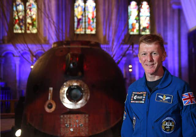Soyuz capsule at Peterborough Cathedral