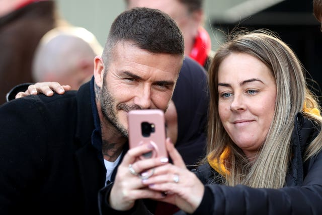 Beckham unsurprisingly courted much attention (Martin Rickett/PA)