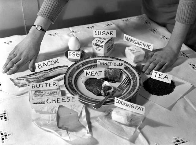 Human Interest – Weekly Portion of Rationed Foods – Britain