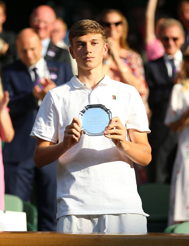 Jack Draper was the runner-up in the boys' singles at Wimbledon in 2018
