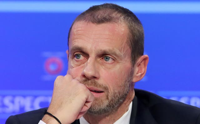 Aleksander Ceferin said UEFA had to take the lead