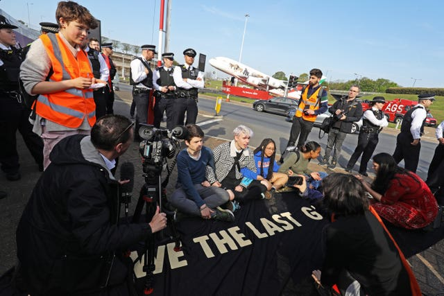 An Extinction Rebellion protest