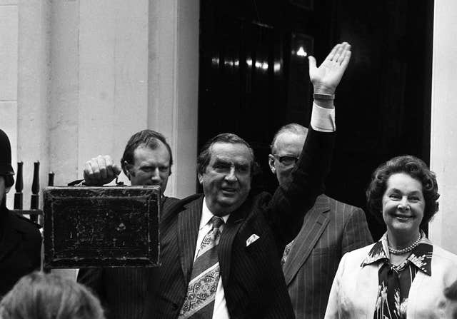 Denis Healey presents budget