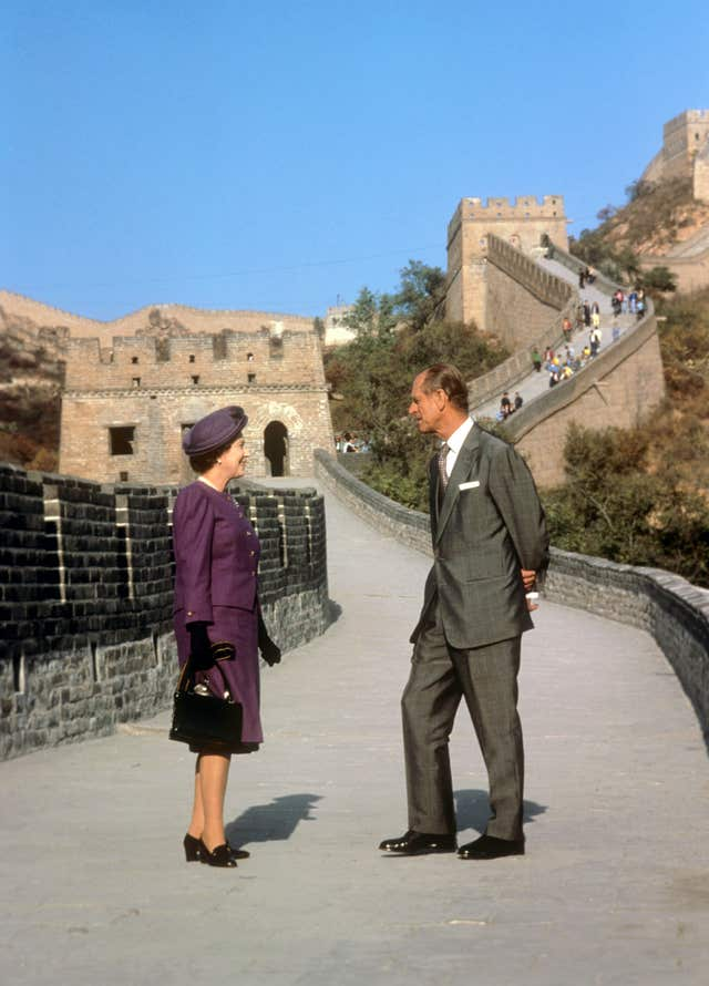 The royal tour to China