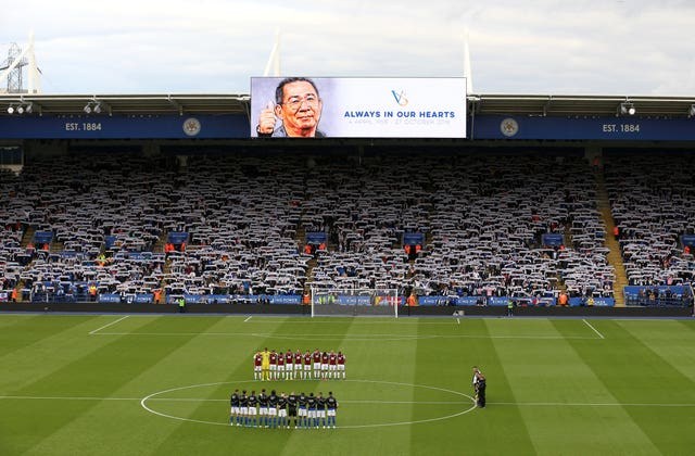 Leicester and Burnley observe a minute's silence