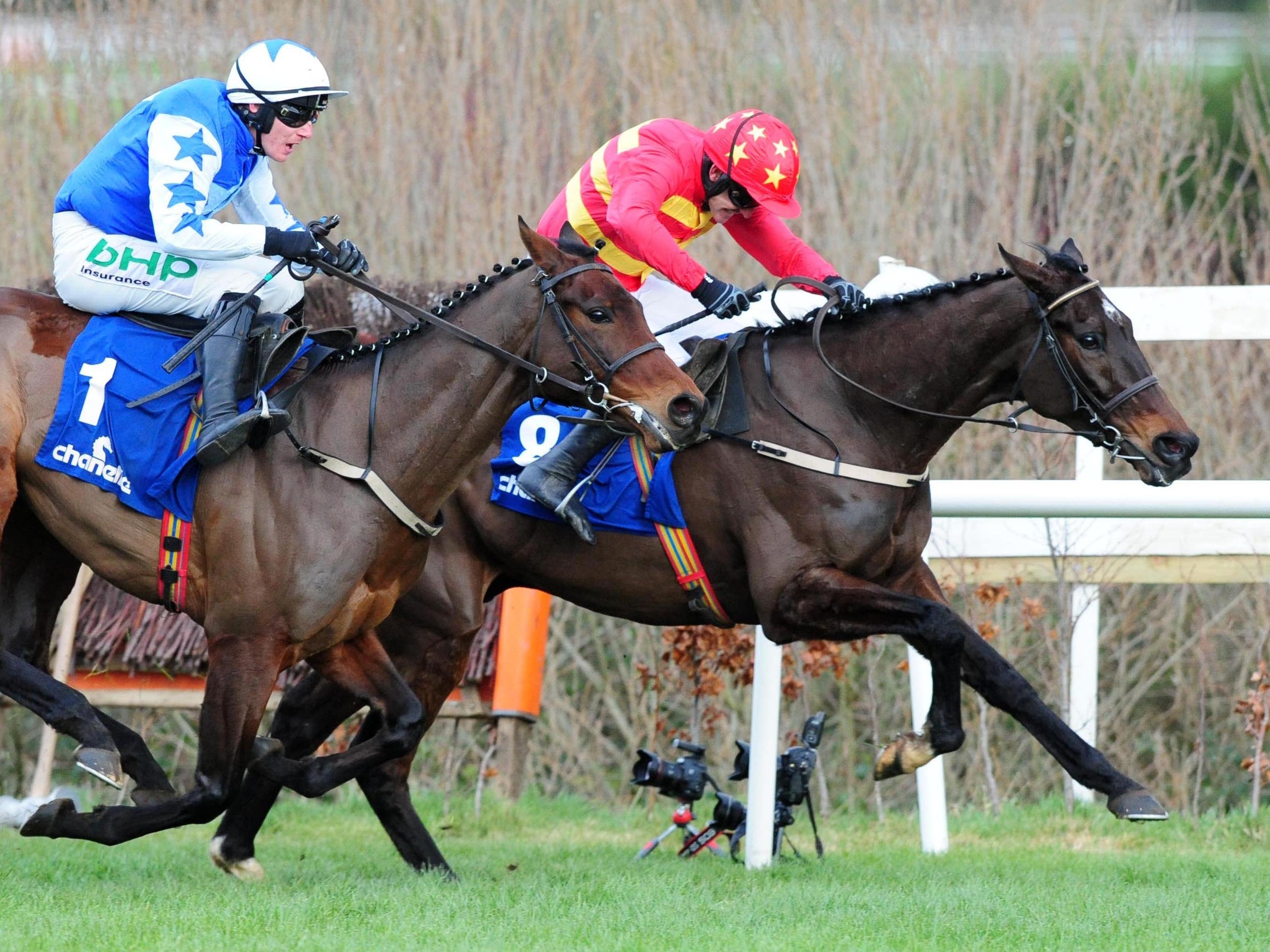 There was little between Klassical Dream (red) and Aramon at Leopardstown (PA Wire)