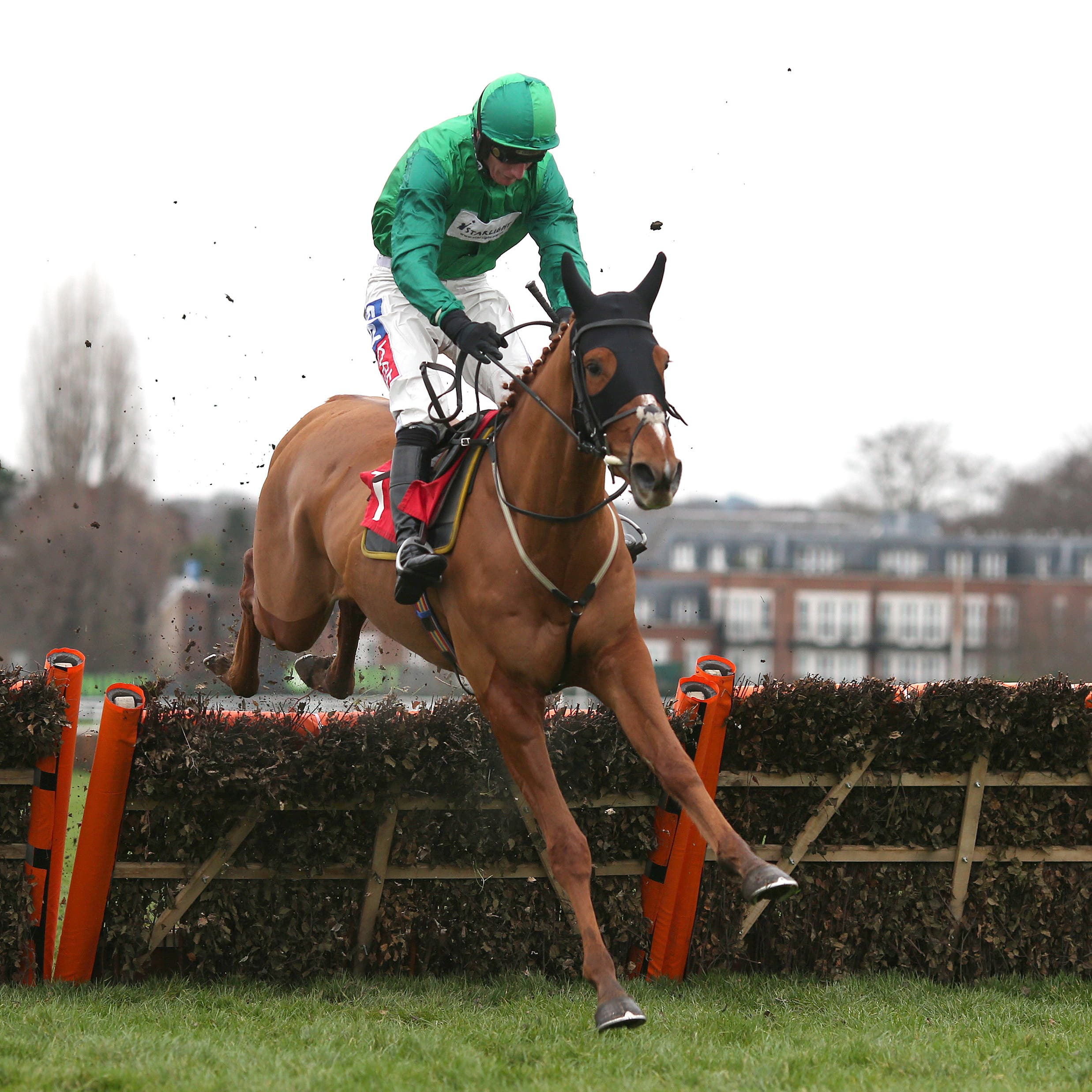Torpillo and Daryl Jacob clear the last on the way to victory at Sandown