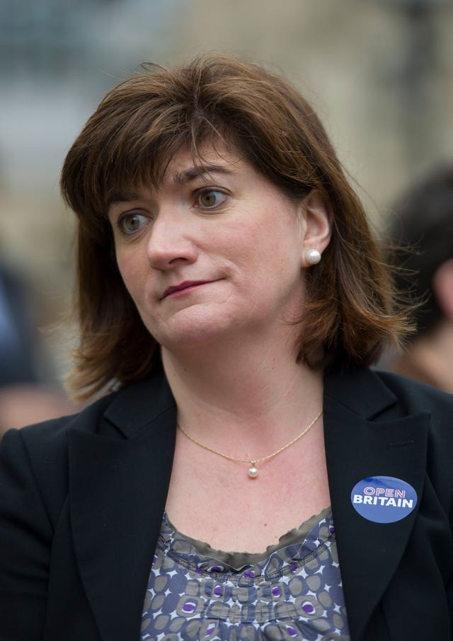 Treasury Committee chairwoman Nicky Morgan has warned against falling back on WTO rules (David Mirzoeff/PA)