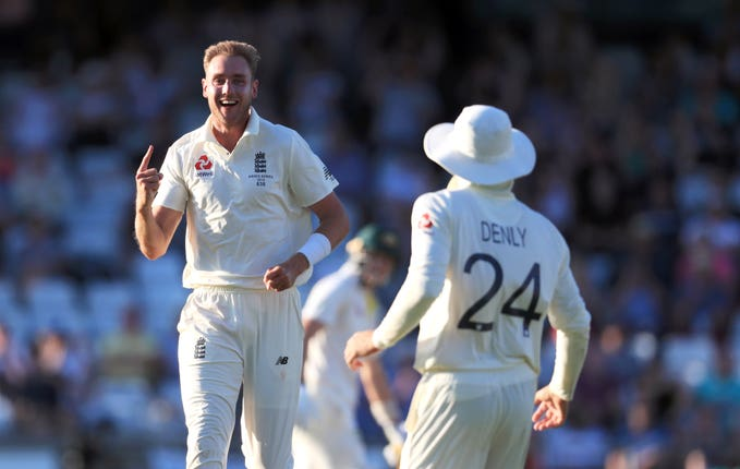 Stuart Broad again took the wicket of David Warner