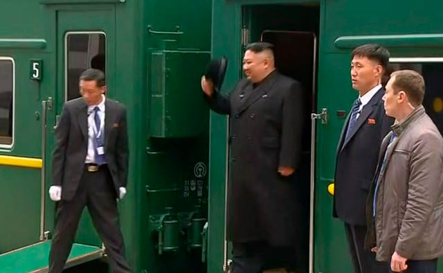 Kim Jong Un arrives in Vladivostok