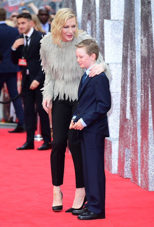 Cate Blanchett and son Roman on the red carpet