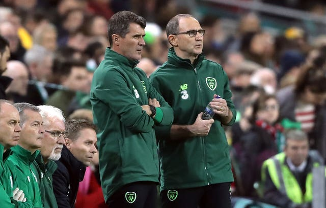 Martin O'Neill, right, and Roy Keane