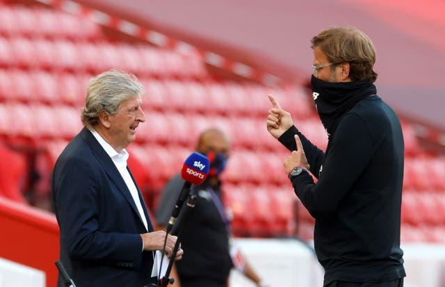 Jurgen Klopp faces former Liverpool manager Roy Hodgson at Selhurst Park on Saturday lunchtime