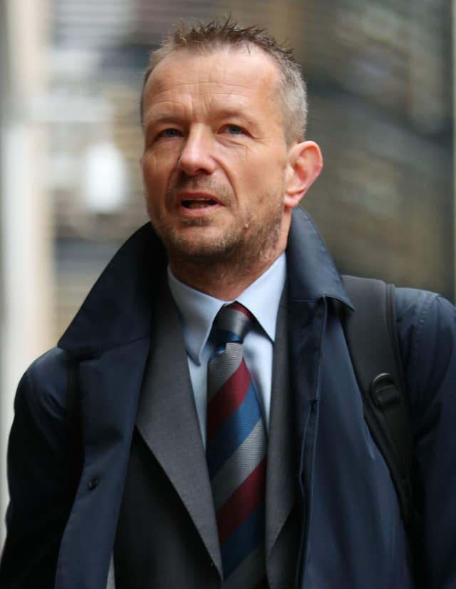 BBC head of newsgathering Jonathan Munro arrives at the Rolls Building in London (Yui Mok/PA)