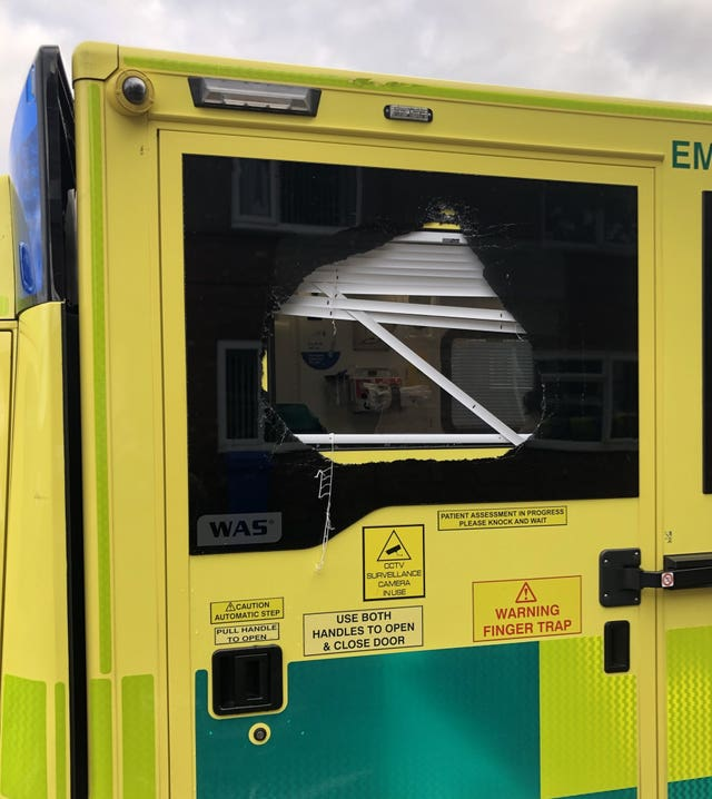 , drink and drugs played a part in three ambulance crews being attacked in separate incidents
