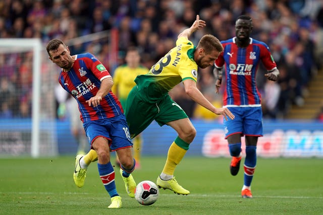 Norwich lost 2-0 to Crystal Palace
