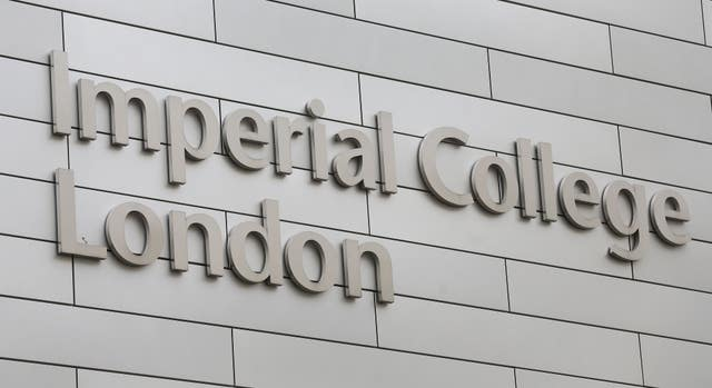 Signage for Imperial College London (Philip Toscano/PA)
