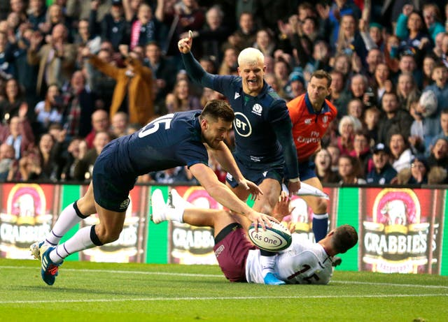 Blair Kinghorn was among Scotland's try scorers against Georgia