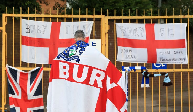 Supporter at Bury