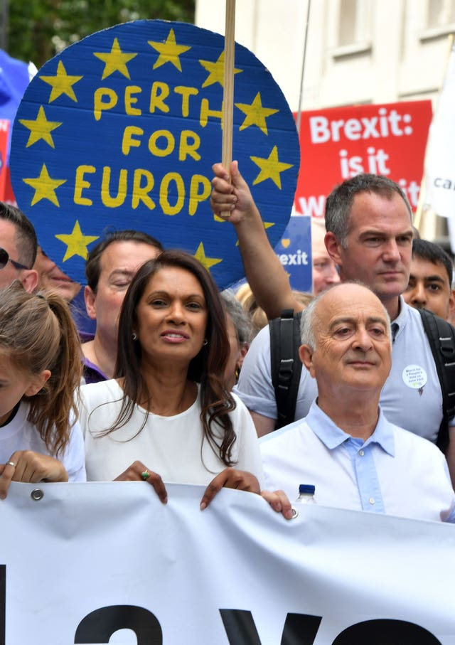 People's Vote march for a second EU referendum – London