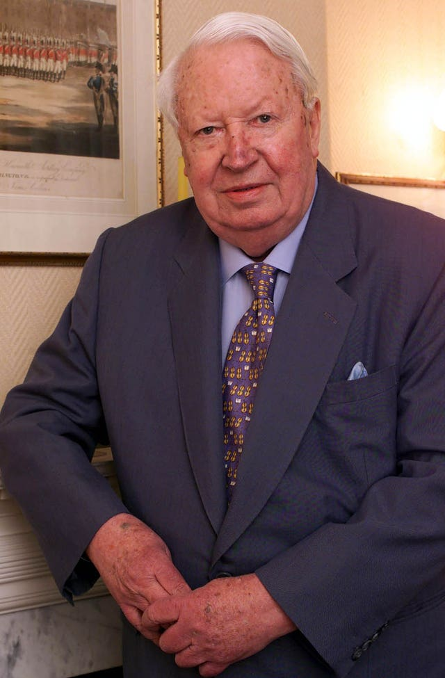 Sir Edward Heath (Toby Melville/PA)