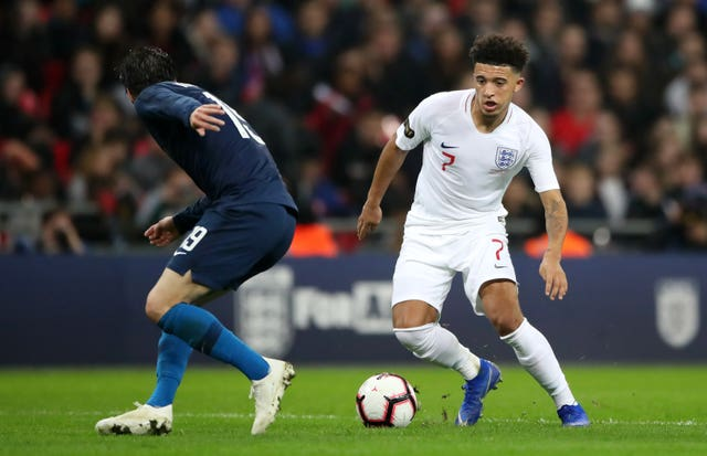 Jadon Sancho has become a full England international since impressing in Germany.