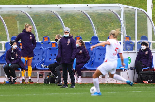 Riise saw England beat Northern Ireland 6-0 in her first game in charge in February (Handout/FA/PA).