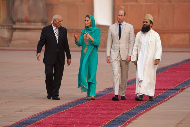 The Duke and Duchess embarked on Lahore for the fourth day of their royal tour (Owen Humphreys/PA)