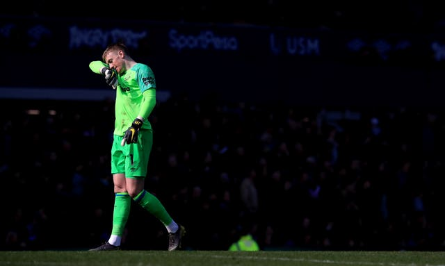 Jordan Pickford, who hit the headlines earlier this week, started for Everton