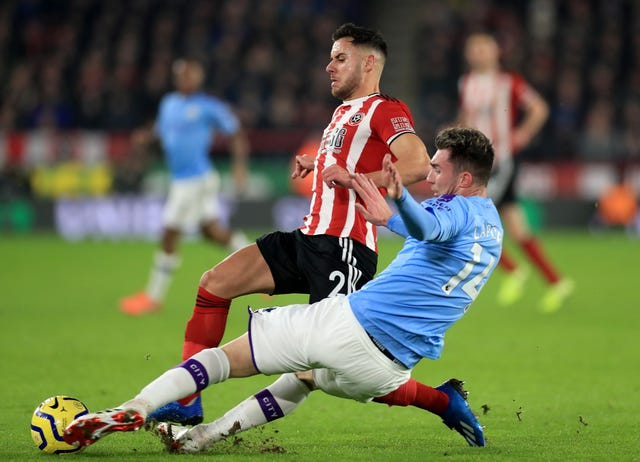 Aymeric Laporte was back in the thick of the action
