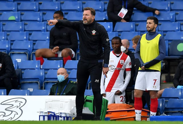 Southampton manager Ralph Hasenhuttl was not impressed with the changing room situation at Stamford Bridge