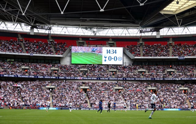 Tottenham's temporary move to Wembley boosted their finances