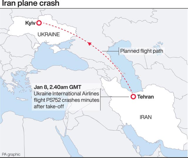 Iran plane crash.