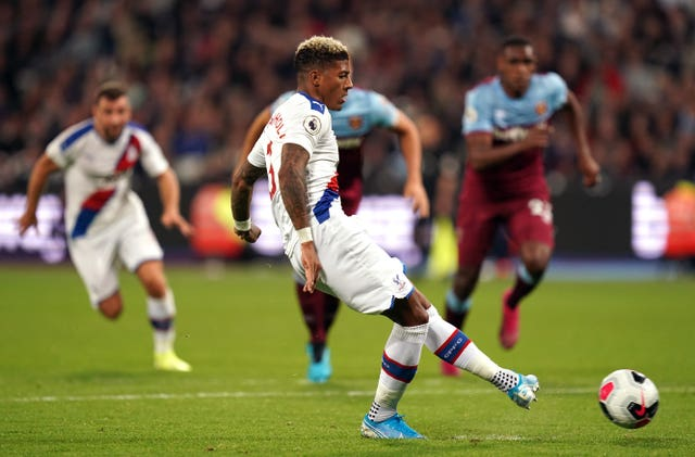 Patrick Van Aanholt's penalty got Crystal Palace back into the game against West Ham