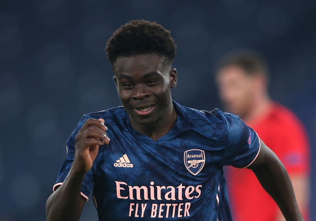 Bukayo Saka scored Arsenal's equalising goal in the first leg.