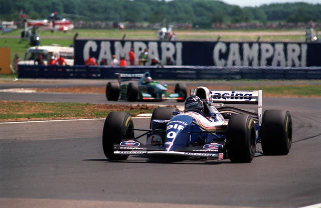 Hill won the 1994 British Grand Prix ahead of second-placed Michael Schumacher - who was subsequently disqualified (David Jones/PA Archive).