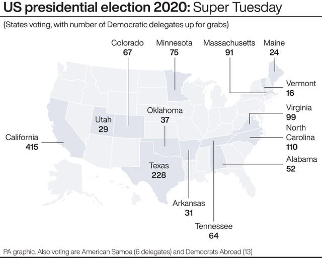 A US election graphic