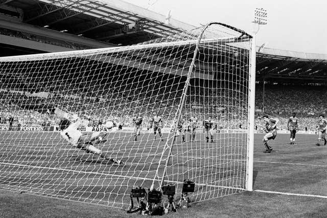 Wimbledon goalkeeper Dave Beasant made history with his penalty save