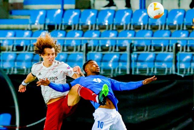 David Luiz suffered an injury in Norway