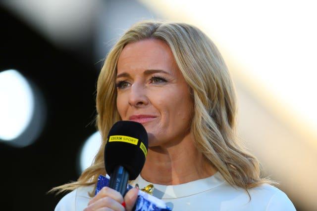 Lord Coe criticised BBC presenter Gabby Logan
