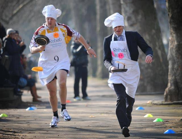 Annual Rehab UK Parliamentary Pancake Race