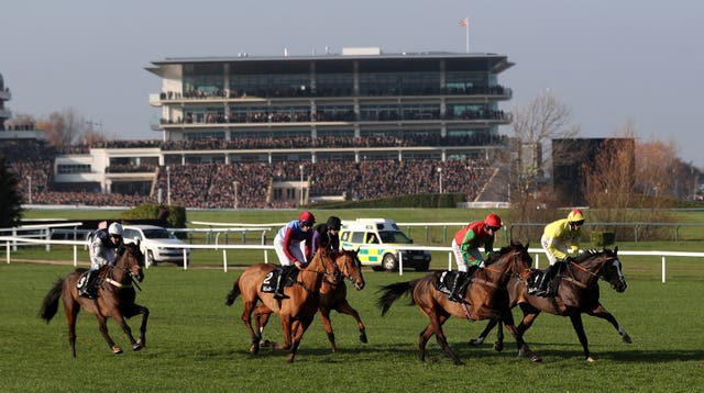 Ibis Du Rheu (right) takes on The Worlds End once more at Cheltenham