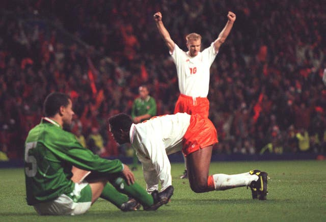 Patrick Kluivert's double denied Ireland a place at Euro '96