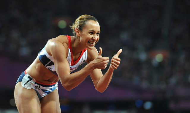 Jessica Ennis celebrates a 200m personal best en route to winning heptathlon gold at London 2012. Ennis finished the race joint first with Dafne Schippers of the Netherlands in a time of 22.83. The 26-year-old's final points total of 6,955 – a British record - was a huge 306 ahead of Germany's Lilli Schwarzkopf