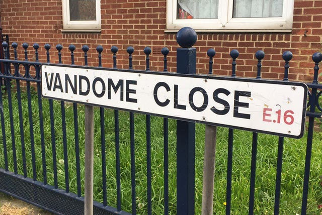 The bodies were found at a property on Vandome Close, Canning Town