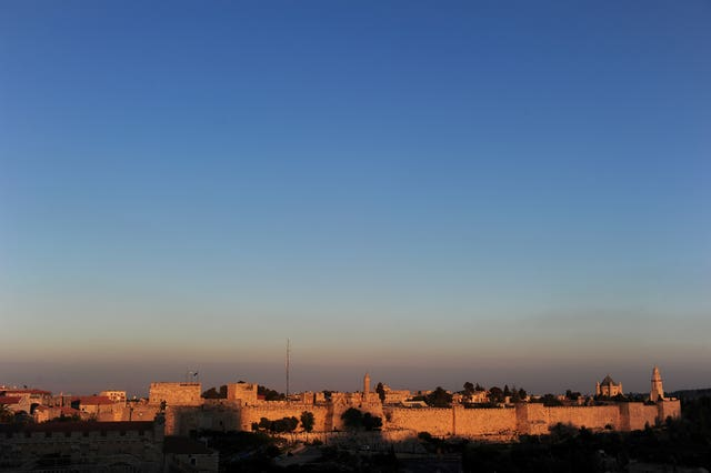 A general view of the Old City of Jerusalem (Adam Davy/PA)