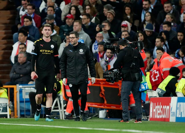 Aymeric Laporte suffered an injury in Madrid on Wednesday night