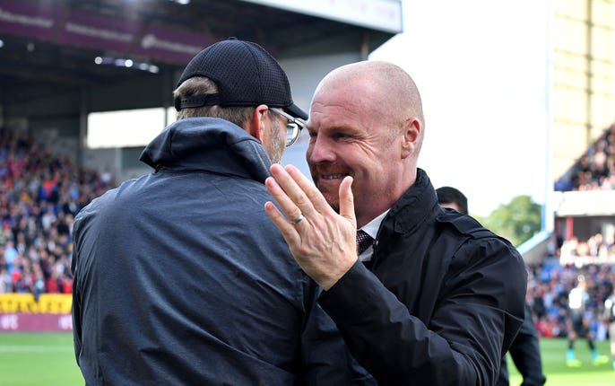 Sean Dyche was satisfied with the performance of his players despite losing to Liverpool