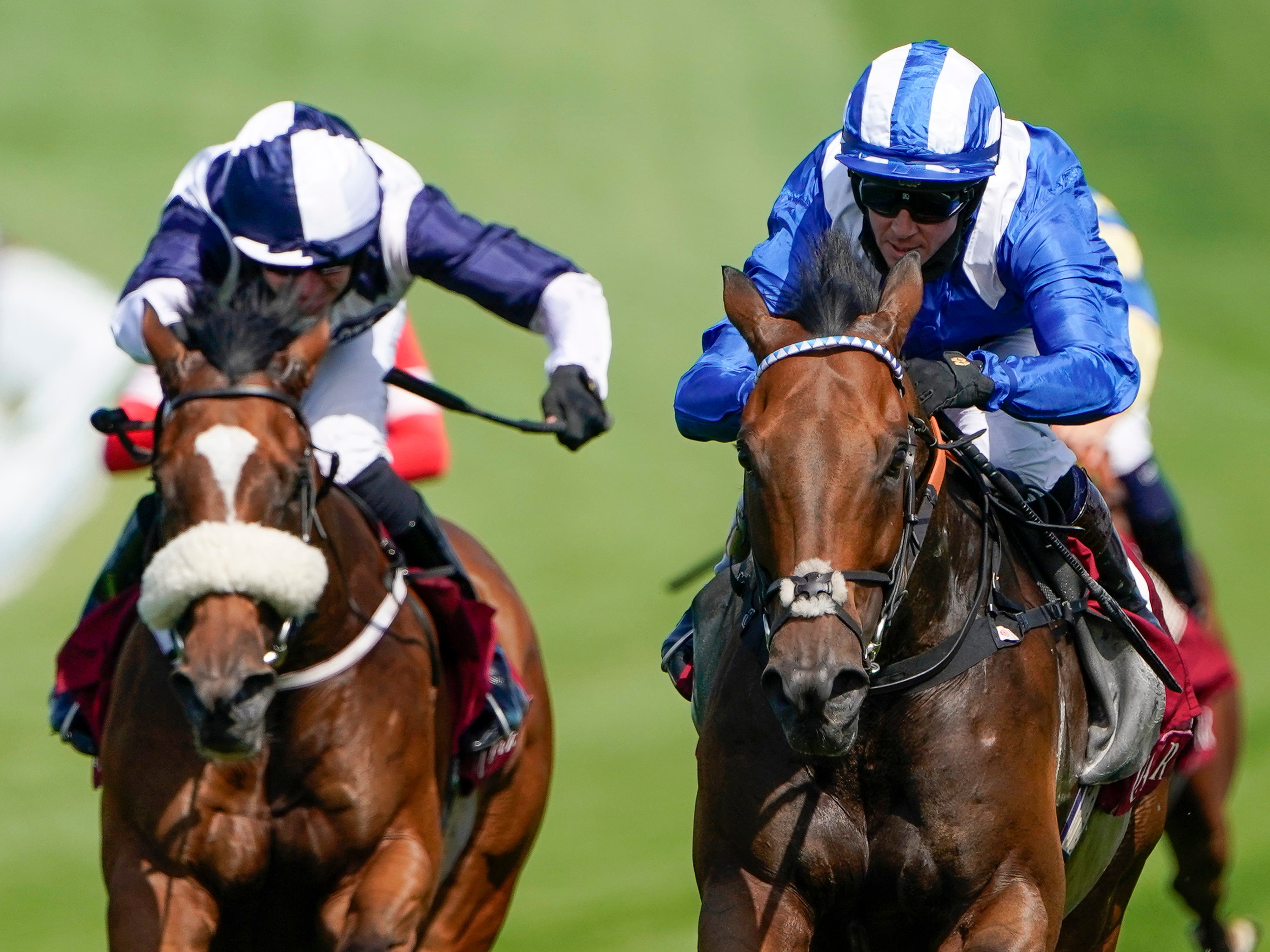 Battaash ridden by Jim Crowley (right) wins The King George Qatar Stakes during day four of the Goodwood Festival at Goodwood Racecourse, Chichester.